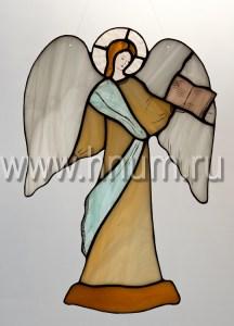 Витраж Ангел с книгой большой - витражи в подарок на Новый Год и Рождество - купить в интернет магазине БМ ХНУМ