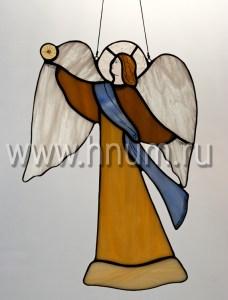 Витраж Ангел со звездой большой - витражи в подарок на Новый Год и Рождество - купить в интернет магазине БМ ХНУМ