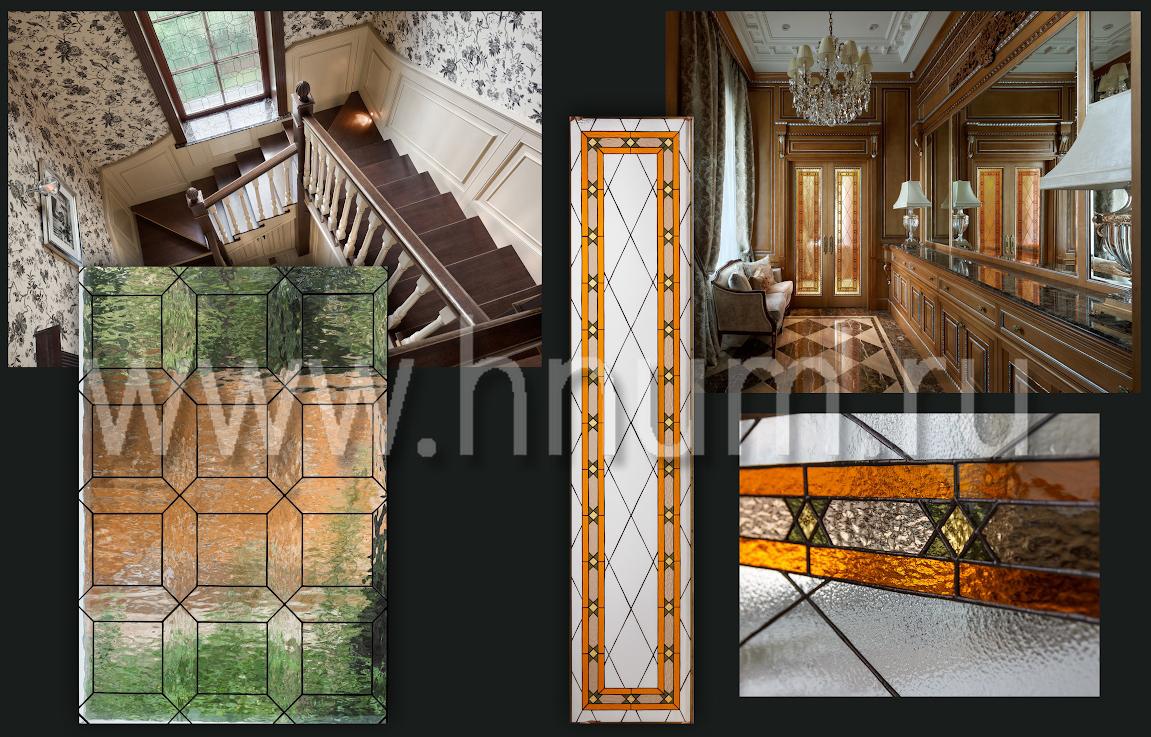 Витражи-вставки в двери - изготовление на заказ - витражная мастерская БМ ХНУМ