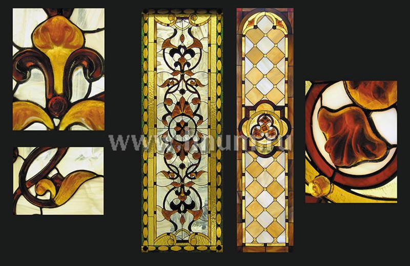 Витражные ниши с использованием скульптурного стекла ручного литья - изготовление витражных ниш и панно на заказ