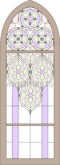 Витражные ниши и панно тиффани - изготовление на заказ -эскиз 1