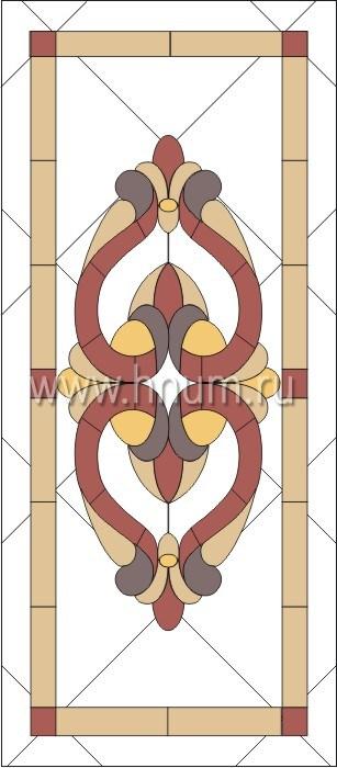 Витражные ниши и панно тиффани - изготовление на заказ -эскиз 5