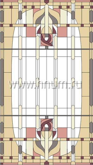 Витражные ниши и панно тиффани - изготовление на заказ -эскиз 6