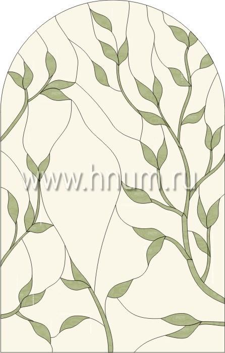 Витражные ниши и панно тиффани - изготовление на заказ -эскиз 7