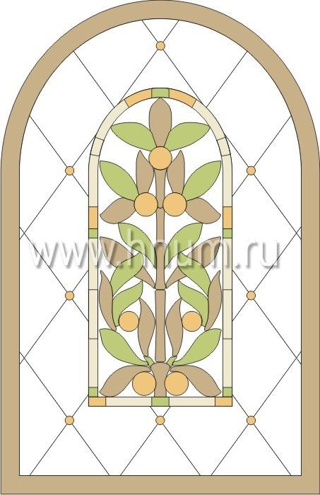 Витражные ниши и панно тиффани - изготовление на заказ -эскиз 9