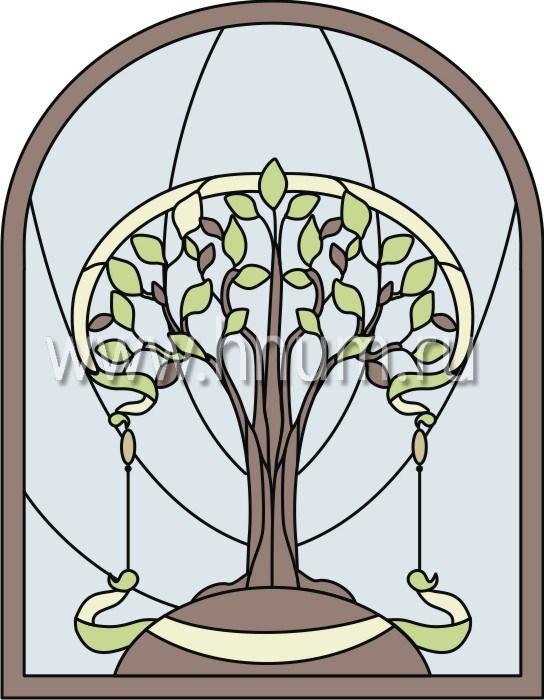 Витражные ниши и панно тиффани - изготовление на заказ -эскиз 12