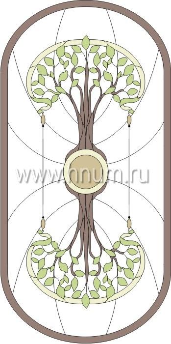 Витражные ниши и панно тиффани - изготовление на заказ -эскиз 13