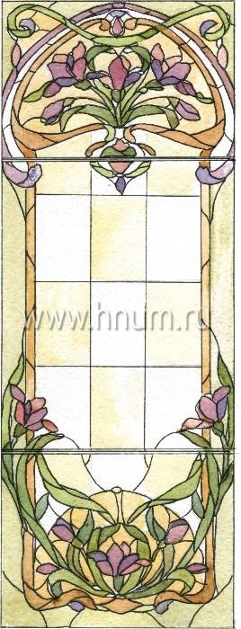 Витражные ниши и панно тиффани - изготовление на заказ -эскиз 15