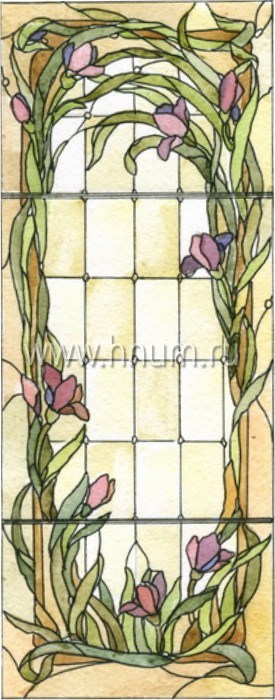 Витражные ниши и панно тиффани - изготовление на заказ -эскиз 16