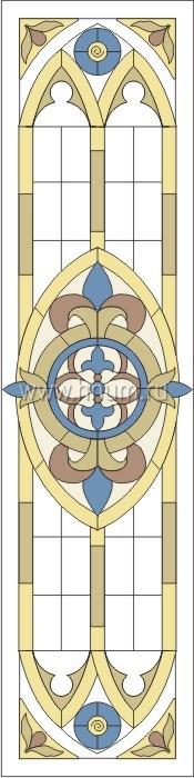 Витражные ниши и панно тиффани - изготовление на заказ -эскиз 18