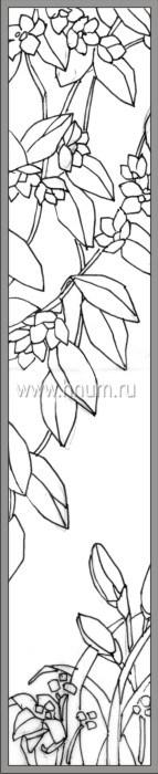 Витражные ниши и панно тиффани - изготовление на заказ -эскиз 19