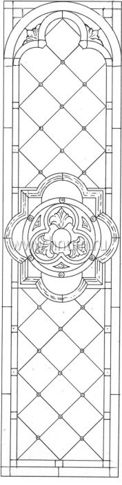 Витражные ниши и панно тиффани - изготовление на заказ -эскиз 22