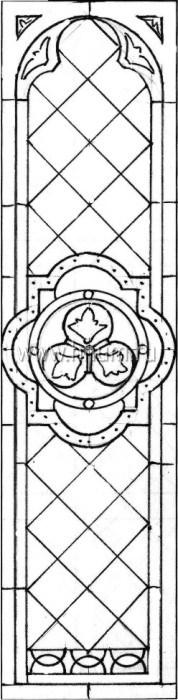 Витражные ниши и панно тиффани - изготовление на заказ -эскиз 23
