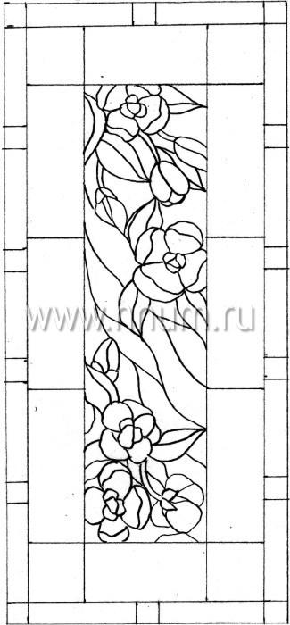 Витражные ниши и панно тиффани - изготовление на заказ -эскиз 26