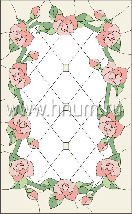 Витражные окна тиффани - изготовление на заказ -эскиз 1