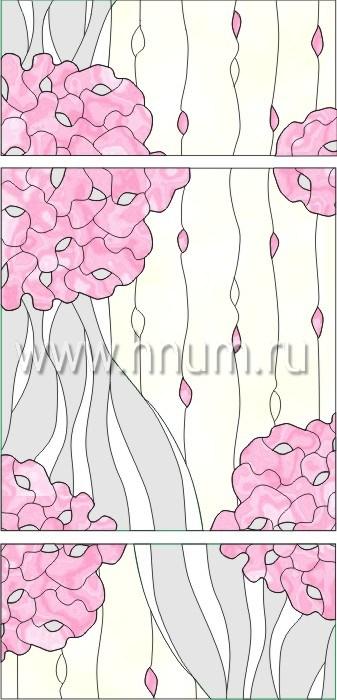 Витражные окна тиффани - изготовление на заказ -эскиз 4
