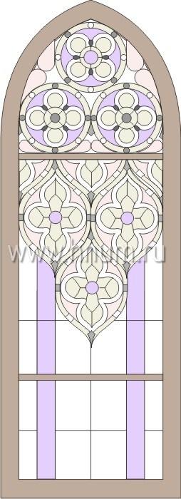 Витражные окна тиффани - изготовление на заказ -эскиз 5