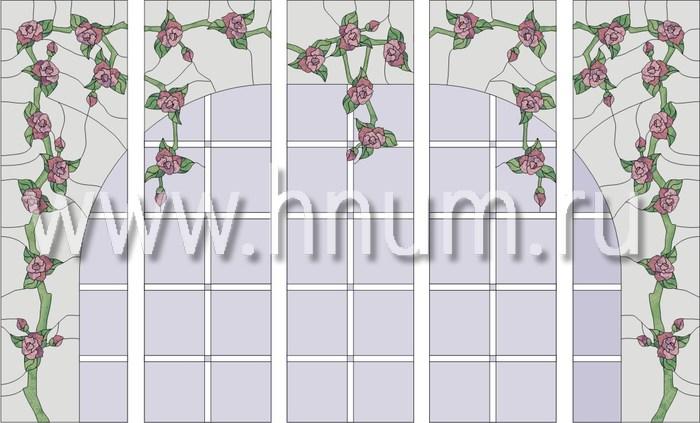 Витражные окна тиффани - изготовление на заказ -эскиз 9
