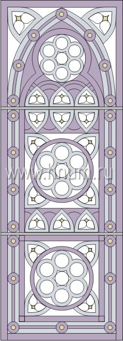 Витражные окна тиффани - изготовление на заказ -эскиз 10