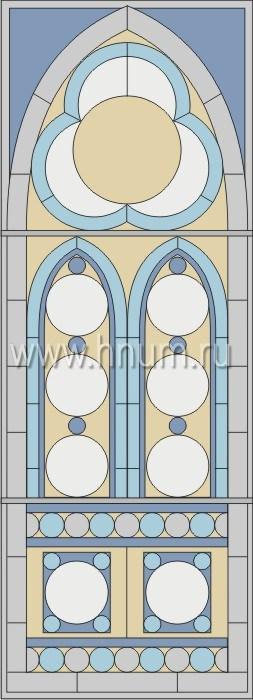 Витражные окна тиффани - изготовление на заказ -эскиз 11
