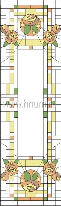 Витражные окна тиффани - изготовление на заказ -эскиз 12