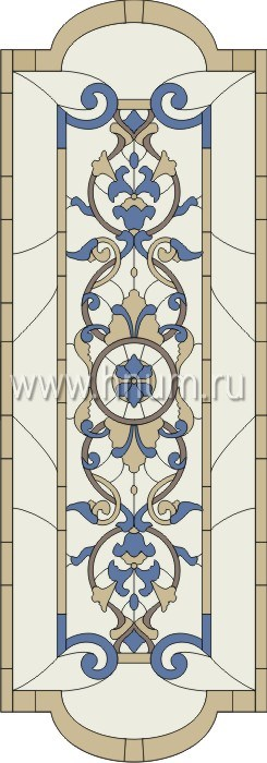 Витражные окна тиффани - изготовление на заказ -эскиз 14