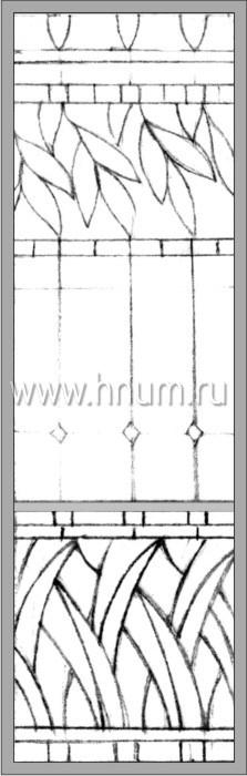 Витражные окна тиффани - изготовление на заказ -эскиз 16