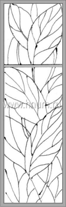 Витражные окна тиффани - изготовление на заказ -эскиз 17
