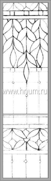 Витражные окна тиффани - изготовление на заказ -эскиз 18