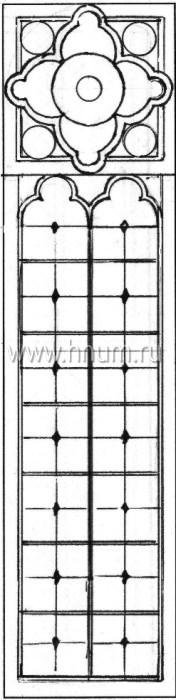 Витражные окна тиффани - изготовление на заказ -эскиз 19