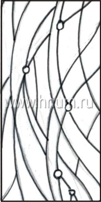 Витражные окна тиффани - изготовление на заказ -эскиз 20