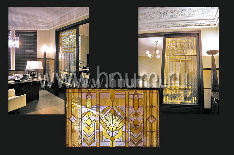 Витражные перегородки в стиле Райта - изготовление витражных перегородок на заказ