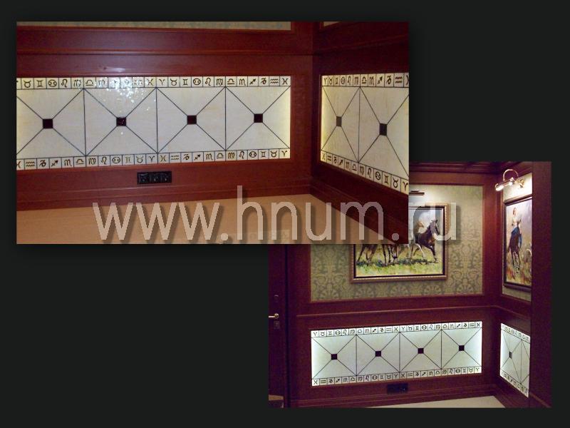 Оформление цоколя витражами - изготовление витражных перегородок на заказ