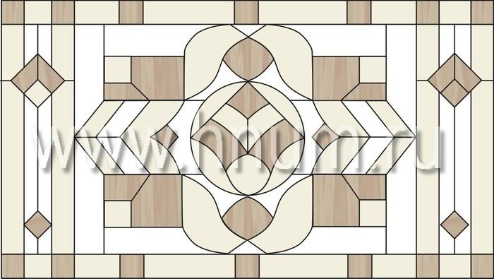 Витражные перегородки тиффани - изготовление на заказ -эскиз 3