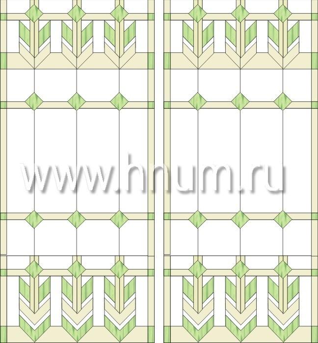 Витражные перегородки тиффани - изготовление на заказ -эскиз 4