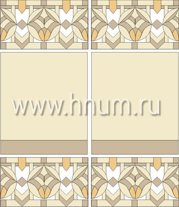 Витражные перегородки тиффани - изготовление на заказ -эскиз 5