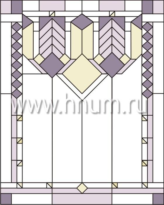 Витражные перегородки тиффани - изготовление на заказ -эскиз 6