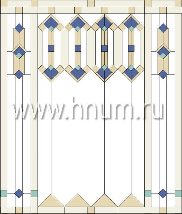 Витражные перегородки тиффани - изготовление на заказ -эскиз 7
