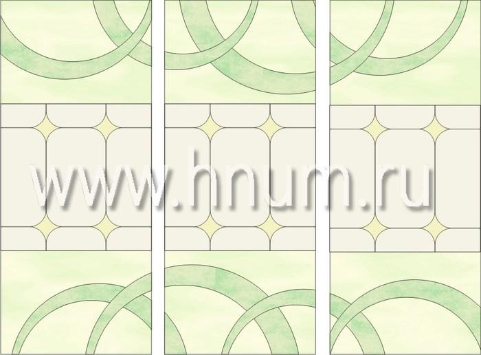 Витражные перегородки тиффани - изготовление на заказ -эскиз 8
