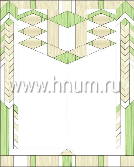 Витражные перегородки тиффани - изготовление на заказ -эскиз 9