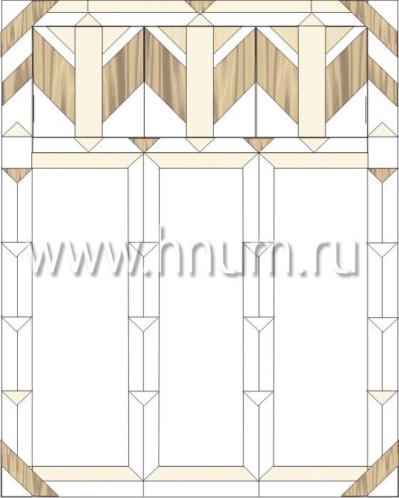 Витражные перегородки тиффани - изготовление на заказ -эскиз 10