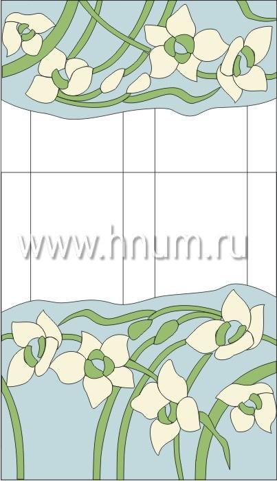 Витражные перегородки тиффани - изготовление на заказ -эскиз 11