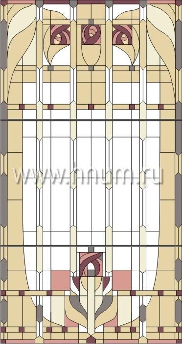 Витражные перегородки тиффани - изготовление на заказ -эскиз 12