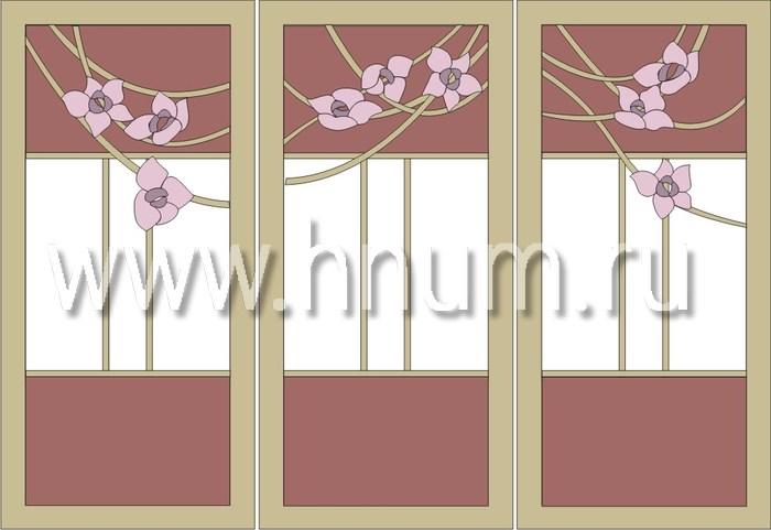 Витражные перегородки тиффани - изготовление на заказ -эскиз 13