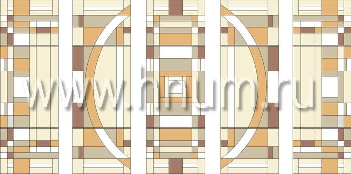 Витражные перегородки тиффани - изготовление на заказ -эскиз 14