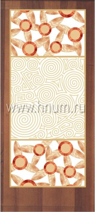 Витражные перегородки тиффани - изготовление на заказ -эскиз 15