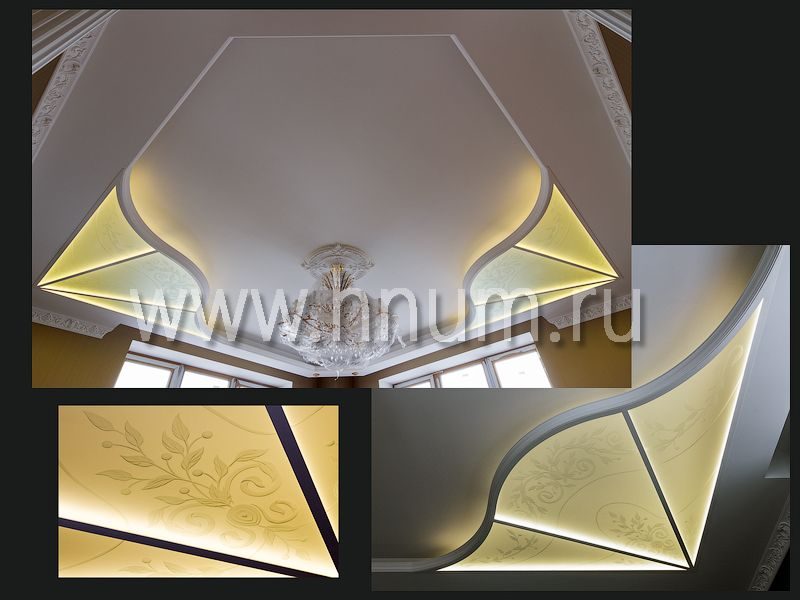 Потолок с пескоструйной декоративной обработкой стекла - изготовление стеклянных пескоструйных потолков на заказ