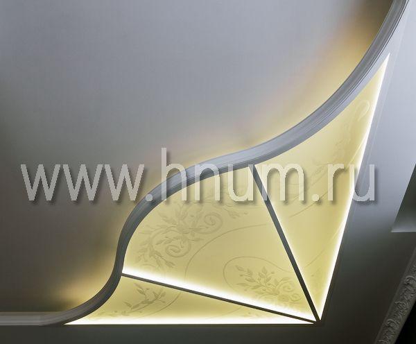 Витражный потолок-плафон с пескоструйным рисунком - изготовление на заказ - витражная мастерская ХНУМ