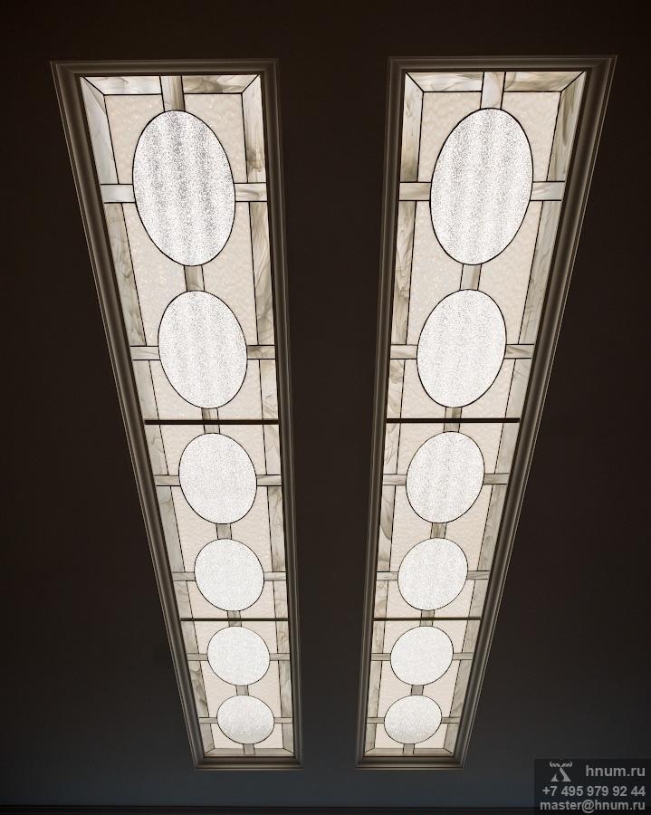 Витражный потолок в спальне - изготовление на заказ - витражная мастерская ХНУМ
