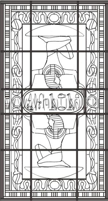 Витражные потолки тиффани изготовленные на заказ в витражной мастерской БМ ХНУМ - Картуш